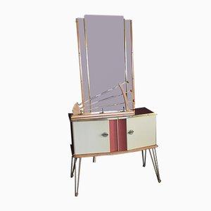 Mid-Century Dressing Table, Mirror & Coat Rack Set
