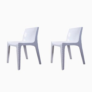 Black & White Chairs by Ernst Moeckl, 1970s, Set of 2