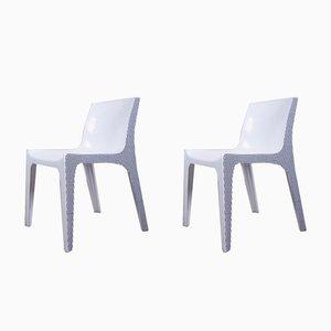 Stühle in Schwarz & Weiß von Ernst Moeckl, 1970er, 2er Set