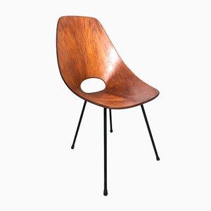 Gebogener Stuhl aus Schichtholz von Vittorio Nobili, 1950er