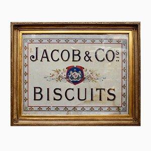 Cadre Publicitaire Jacob & Co's Biscuits Edouardien Antique
