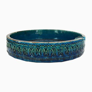 Italian Rimini Blue Ashtray by Aldo Londi for Bitossi, 1960s