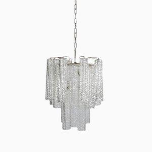 Lámpara colgante de cristal de Murano, años 60