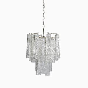 Lampe à Suspension en Verre de Murano, 1960s