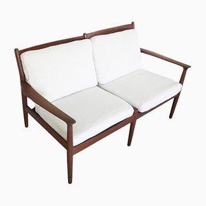 Sofá de dos plazas vintage de Grete Jalk para Glostrup, años 60