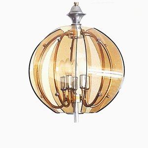 Lampe à Suspension Vintage en Verre, Italie