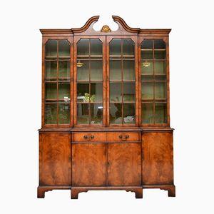 Großes antiker Bücherregal aus Nussholz von Harvey Nichols & Co Ltd