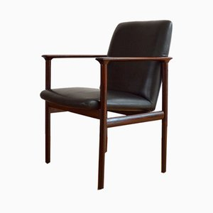 Impala Rosewood & Leather Lounge Chair by Cor Bontenbal for Fristho, 1960s