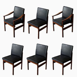 Knightsbridge Afrormosia Dining Chairs by Robert Heritage for Archie Shine, 1960s, Set of 6