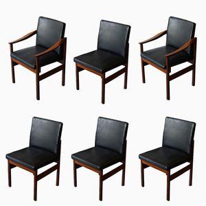 Knightsbridge Esszimmerstühle aus Afrormosia von Robert Heritage für Archie Shine, 1960er, 6er Set