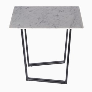 Bianco Carrara Marble Dritto Coffee Table by Piero Lissoni for Salvatori