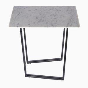 Table Basse Dritto en Marbre de Carrare Blanc par Piero Lissoni pour Salvatori