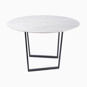 Mesa de centro Dritto de mármol de Carrara en blanco de Piero Lissoni para Salvatori