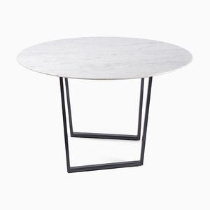 White Carrara Marble Dritto Coffee Table by Piero Lissoni for Salvatori