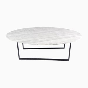 Lithoverde White Carrara Marble Dritto Coffee Table by Piero Lissoni for Salvatori