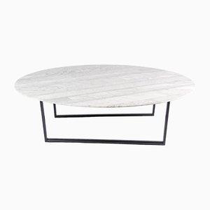 Mesa de centro Lithoverde de mármol de Carrara blanco de Piero Lissoni para Salvatori