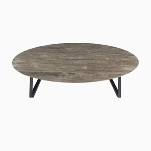 Table Basse Dritto Gris du Marais par Piero Lissoni pour Salvatori