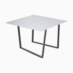 Bianco Carrara Dritto Dining Table by Piero Lissoni for Salvatori