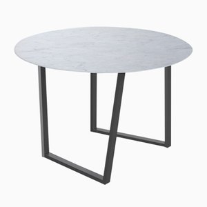 Bianco Carrara Marble Dritto Dining Table by Piero Lissoni for Salvatori
