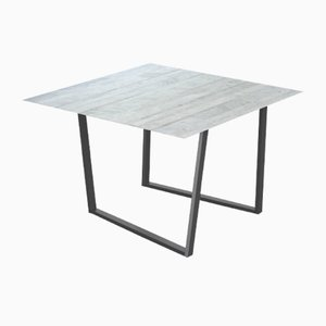 Bianco Carrara Lithoverde Dritto Dining Table by Piero Lissoni for Salvatori