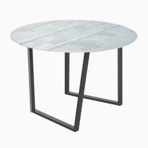 Lithoverde Bianco Carrara Dritto Dining Table by Piero Lissoni for Salvatori