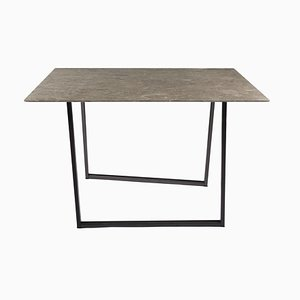 Table de Salle à Manger Dritto Gris du Marais par Piero Lissoni pour Salvatori