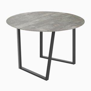 Table de Salon Lithoverde Dritto Gris du Marais par Piero Lissoni pour Salvatori