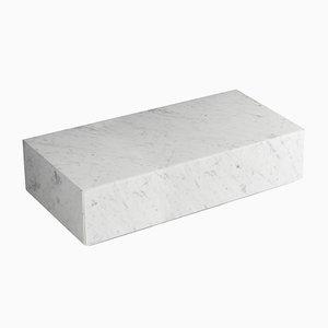 Cajón Ciane de mármol de Carrara blanco de Elisa Ossino para Salvatori