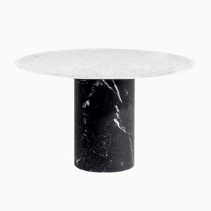 Nero Marquina & Bianco Carrara Proiezioni Coffee Table by Elisa Ossino for Salvatori