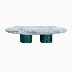 Mesa de centro Proiezioni de mármol Verde Alpi & Cipollino de Elisa Ossino para Salvatori