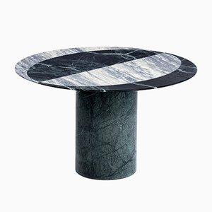 Mesa de centro Proiezioni de mármol Verde Alpi y Cipollino con incrustaciones de Elisa Ossino para Salvatori