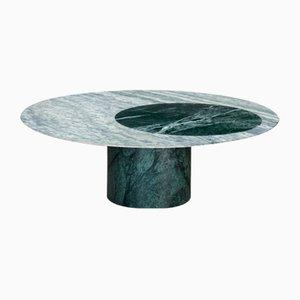 Table Basse Proiezioni en Marbre Incrusté Cipolin et Vert des Alpes par Elisa Ossino pour Salvatori