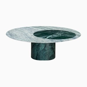 Verde Alpi & Cipollino Marble Inlaid Proiezioni Coffee Table by Elisa Ossino for Salvatori