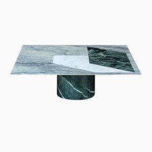 Tavolino da caffè Proiezioni in marmo intarsiato di Elisa Ossino per Salvatori