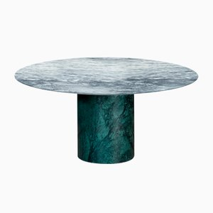 Verde Alpi & Cipollino Marble Proiezioni Dining Table by Elisa Ossino for Salvatori
