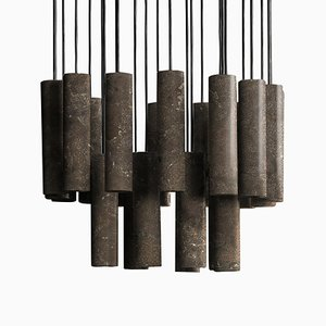 Pietra d'Avola Stone Silo Chandelier by David Lopez Quincoces for Salvatori