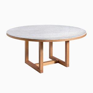 Table de Salle à Manger Span en Marbre de Carrare Blanc par John Pawson pour Salvatori
