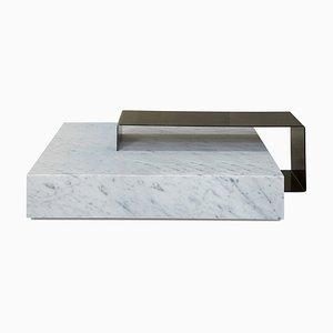 Mesa de centro Ta_Volo de mármol de Carrara en blanco de Franz Siccardo para Salvatori