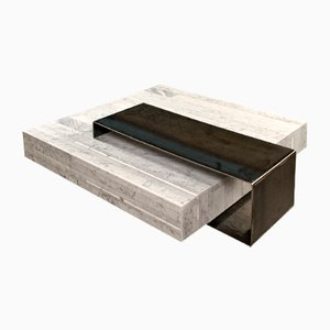 Lithoverde Bianco Carrara Ta_Volo Coffee Table by Franz Siccardo for Salvatori