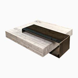 Tavolino da caffè Ta_Volo in marmo bianco di Carrara di Franz Siccardo per Salvatori