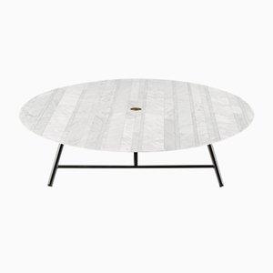 Table Basse Lithoverde en Marbre de Carrare Blanc par David Lopez Quincoces pour Salvatori