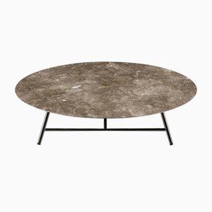 Table Basse W Levigato Gris du Marais par David Lopez Quincoces pour Salvatori