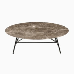 Table Basse W Gris du Marais par David Lopez Quincoces pour Salvatori