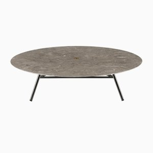 Polished Gris du Marais W Coffee Table by David Lopez Quincoces for Salvatori