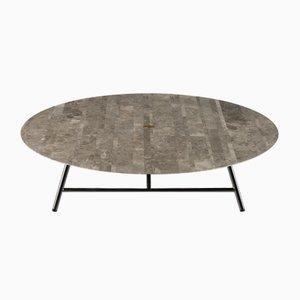 Table Basse W Lithoverde Gris du Marais par David Lopez Quincoces pour Salvatori
