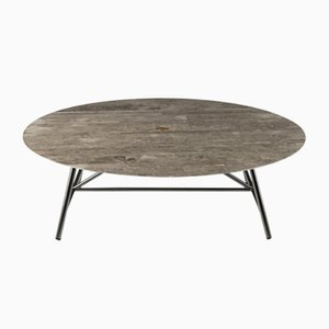 Lithoverde Gris du Marais W Coffee Table by David Lopez Quincoces for Salvatori