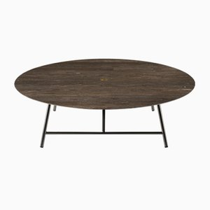 Tavolino da caffè W in pietra d'Avola di David Lopez Quincoces per Salvatori