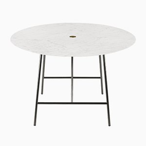 White Carrara Marble W Dining Table by David Lopez Quincoces for Salvatori