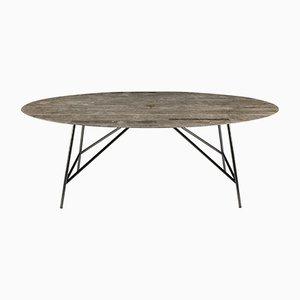 Tavolo da pranzo W ovale in gris du Marais di David Lopez Quincoces per Salvatori