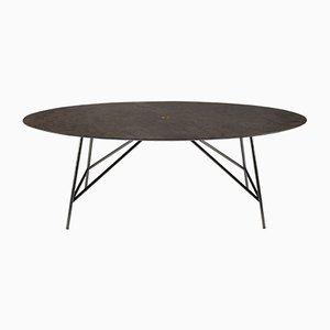Tavolo da pranzo W ovale in pietra d'Avola di David Lopez Quincoces per Salvatori
